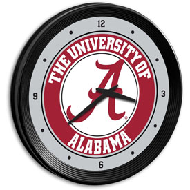 Alabama Crimson Tide: Ribbed Frame Wall Clock