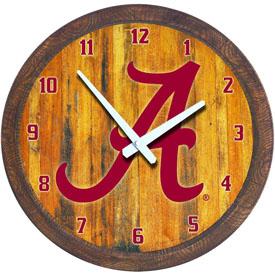 "Alabama Crimson Tide: ""Faux"" Barrel Top Wall Clock"