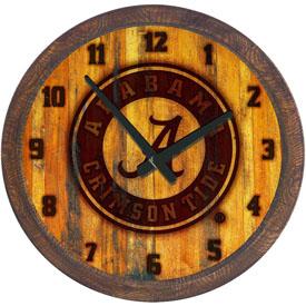 "Alabama Crimson Tide: Seal - Branded ""Faux"" Barrel Top Wall Clock"