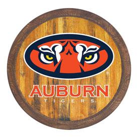 """Auburn Tigers: """"Faux"""" Barrel Top Sign"""