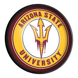 Arizona State Sun Devils: Round Slimline Lighted Wall Sign