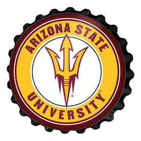 Arizona State Sun Devils: Bottle Cap Wall Sign
