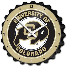 Colorado Buffaloes: Bottle Cap Wall Clock