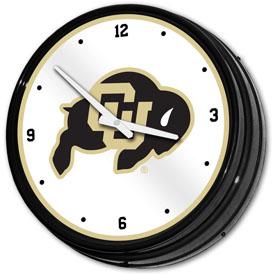 Colorado Buffaloes: Retro Lighted Wall Clock
