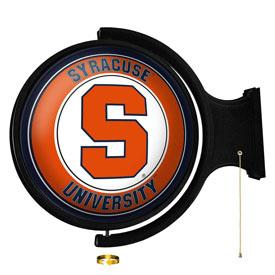 Syracuse Orange: Original Round Rotating Lighted Wall Sign