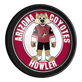 Arizona Coyotes: Howler - Round Slimline Lighted Wall Sign