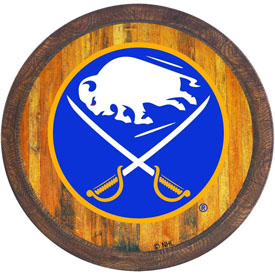 "Buffalo Sabres: ""Faux"" Barrel Top Sign"