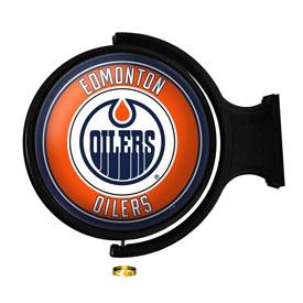 Edmonton Oilers: Original Round Illuminated Rotating Wall Sign