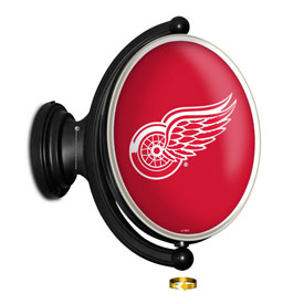Detroit Red Wings: Original Oval Illuminated Rotating Wall Sign