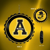 Applachian State Mountaineers Team Spirit Bottle Cap Dangler-Primary & Secondary Logo