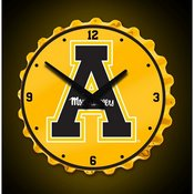 Applachian State Mountaineers Team Spirit Bottle Cap Wall Clock