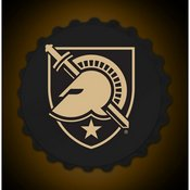 Army USMA Black Knights Team Spirit Bottle Cap Wall Sign