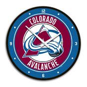 Colorado Avalanche: Modern Disc Wall Clock