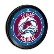 Colorado Avalanche: Ribbed Frame Wall Clock