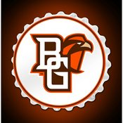 BGSU - Bowling Green State Falcons Team Spirit Bottle Cap Wall Sign-Primary Logo