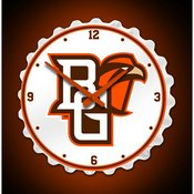 BGSU - Bowling Green State Falcons Team Spirit Bottle Cap Wall Clock-Primary Logo