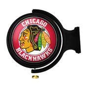 Chicago Blackhawks: Original Round Illuminated Rotating Wall Sign