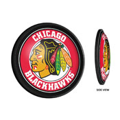 Chicago Blackhawks: Round Slimline Illuminated Wall Sign