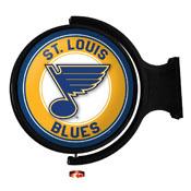 St. Louis Blues: Original Round Illuminated Rotating Wall Sign