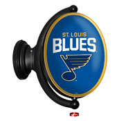 St. Louis Blues: Original Oval Illuminated Rotating Wall Sign