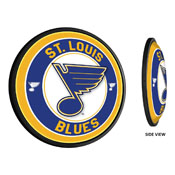 St. Louis Blues: Round Slimline Illuminated Wall Sign