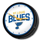 St. Louis Blues: Illuminated Retro Diner Wall Clock