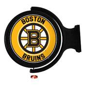 Boston Bruins: Original Round Illuminated Rotating Wall Sign