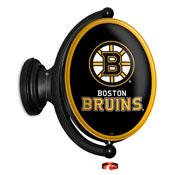Boston Bruins: Original Oval Illuminated Rotating Wall Sign