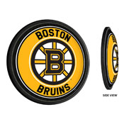 Boston Bruins: Round Slimline Illuminated Wall Sign