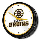 Boston Bruins: Illuminated Retro Diner Wall Clock
