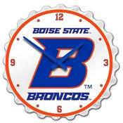 BSU - Boise State Broncos Team Spirit Bottle Cap Wall Clock
