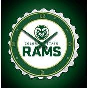 CSU - Colorado State Rams Team Spirit Bottle Cap Wall Clock