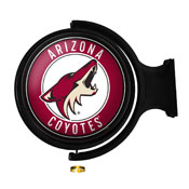 Arizona Coyotes: Original Round Illuminated Rotating Wall Sign