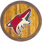"""Arizona Coyotes: """"Faux"""" Barrel Top Sign"""