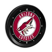 Arizona Coyotes: Ribbed Frame Wall Clock