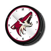 Arizona Coyotes: Illuminated Retro Diner Wall Clock