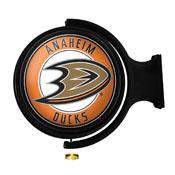 Anaheim Ducks: Original Round Illuminated Rotating Wall Sign