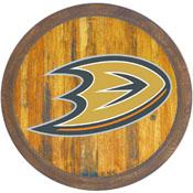 "Anaheim Ducks: ""Faux"" Barrel Top Sign"