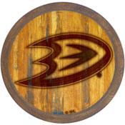 "Anaheim Ducks: Branded ""Faux"" Barrel Top Sign"