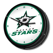 Dallas Stars: Illuminated Retro Diner Wall Clock