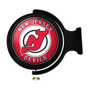 New Jersey Devils: Original Round Illuminated Rotating Wall Sign