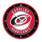 Carolina Hurricanes: Modern Disc Wall Clock