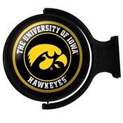 University of Iowa Hawkeyes Rotating Illuminated Team Spirit Wall Sign-Round