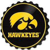 University of Iowa Hawkeyes Team Spirit Bottle Cap Wall Sign-Tigerhawk
