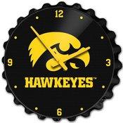 University of Iowa Hawkeyes Team Spirit Bottle Cap Wall Clock