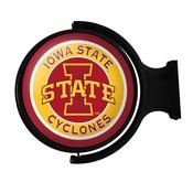 ISU Iowa State Cyclones Rotating Illuminated Team Spirit Wall Sign-Round