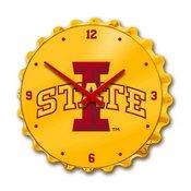 ISU Iowa State Cyclones Team Spirit Bottle Cap Wall Clock-Primary Logo