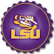LSU Tigers Team Spirit Bottle Cap Wall SignU