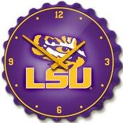 LSU Tigers Team Spirit Bottle Cap Wall ClockU