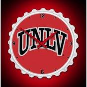 UNLV Rebels Team Spirit Bottle Cap Wall Clock